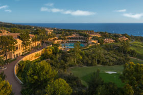 Pelican Hill Resort overlooking the Pacific Ocean